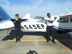 Ronald Otieno First SOLO Flight