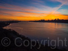 Sunset over the Hudson River, New York-New Jersey