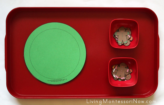 Gingerbread Man Color Sort Tray
