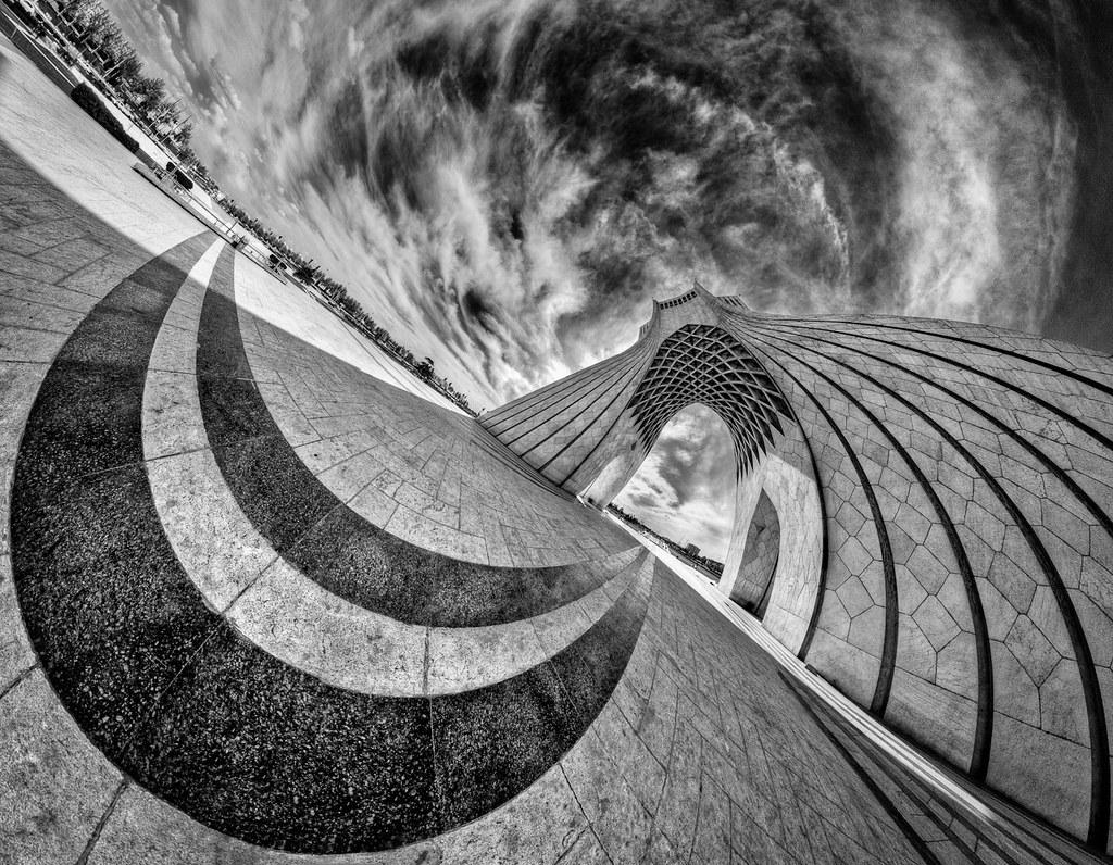 Smiling tower, photo by Mohammad Reza Domiri Ganji