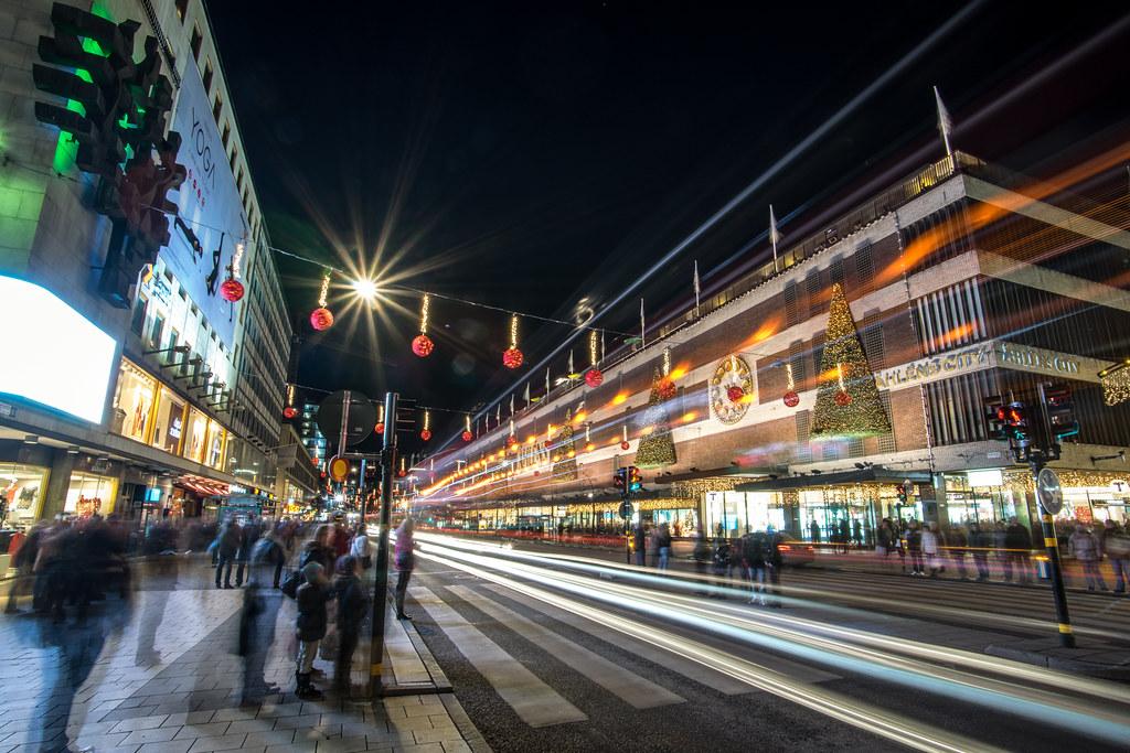 Christmas lights, Stockholm, Sweden picture