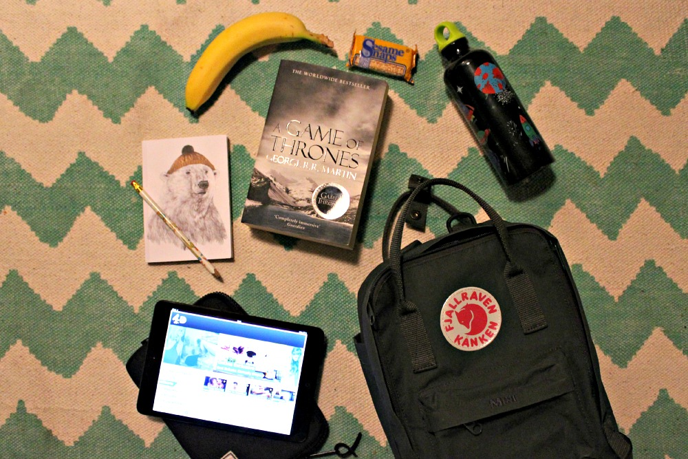 Beat Boredom on Trains - pack a rucksack