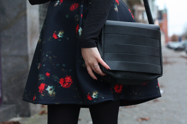 floral neoprene dress, and other stories satchel handbag