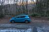 林道凍結で途中駐車