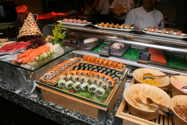 Sushi and maki section