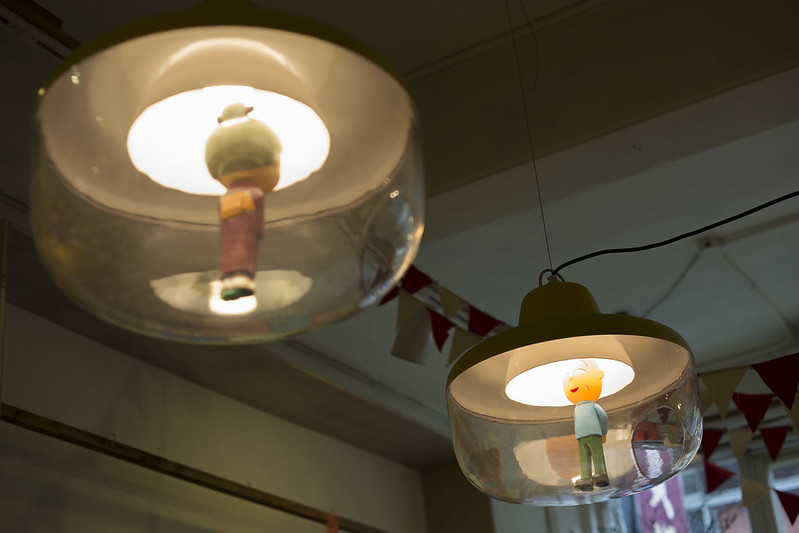 Dolls displayed in the lamp, Taipei.