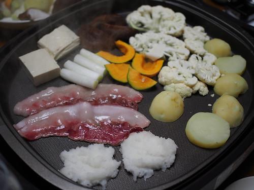 イノシシ焼き肉ダイコン餅-2