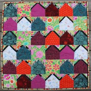 Tiny Ticky Tacky Houses Quilt
