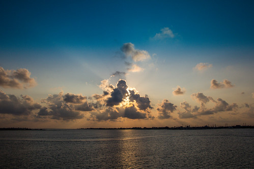 ocean sunset sky galveston bay