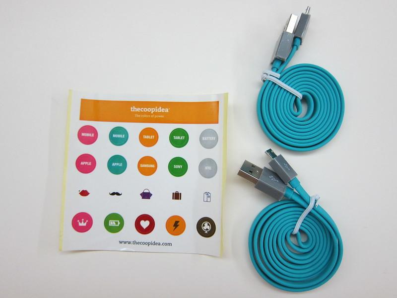 thecoopidea Pasta Micro USB Cable - Box Contents
