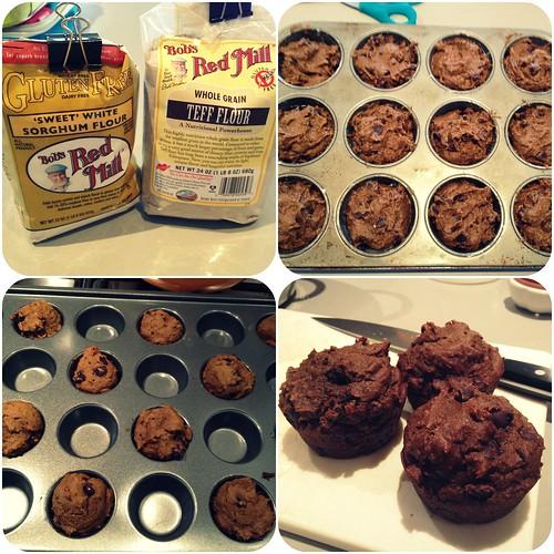 Pumpkin muffin collage