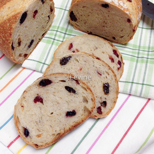 Kamutbrood met cranberries en blueberries