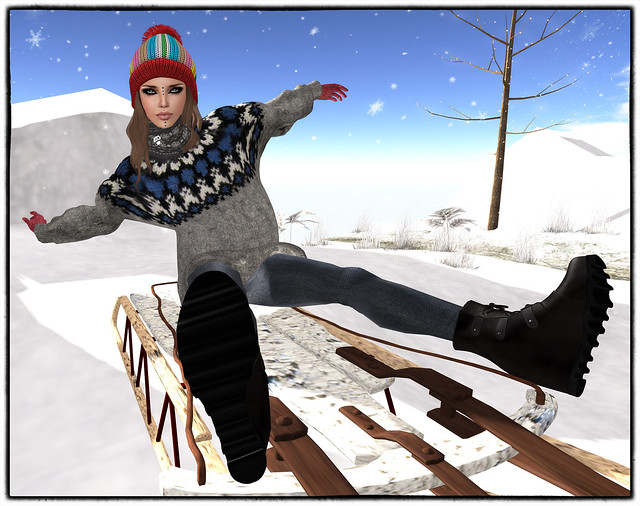 Sliding down the snow 2
