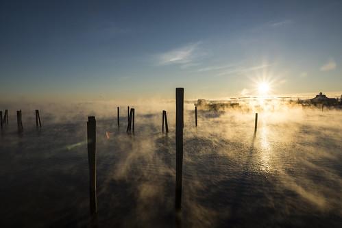 winter me sunrise pier frozen dock maine january freezing freeze seasmoke rockland publiclanding rocklandharbor