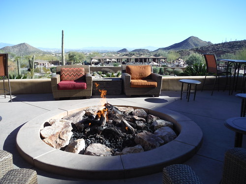 Marriott hotel firepit
