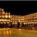 Vista nocturna de la Plaza Mayor de Salamanca