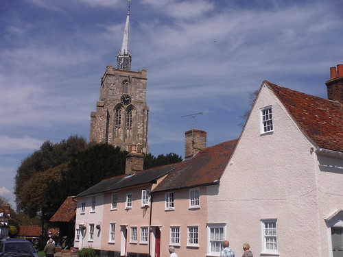 Ashwell Church from village centre