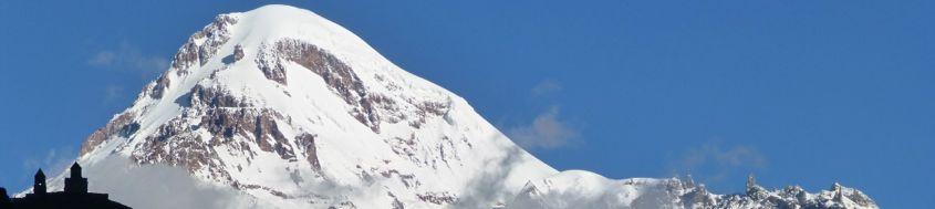 Trekkingreise Georgien, Besteigung Kasbek, 5047 m. Foto: Dr. Stephanie Geiger.