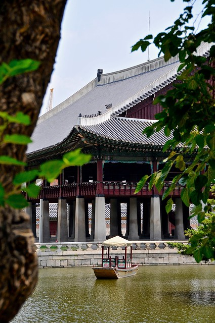 Gyeonghoeru royal banquet hall and barque