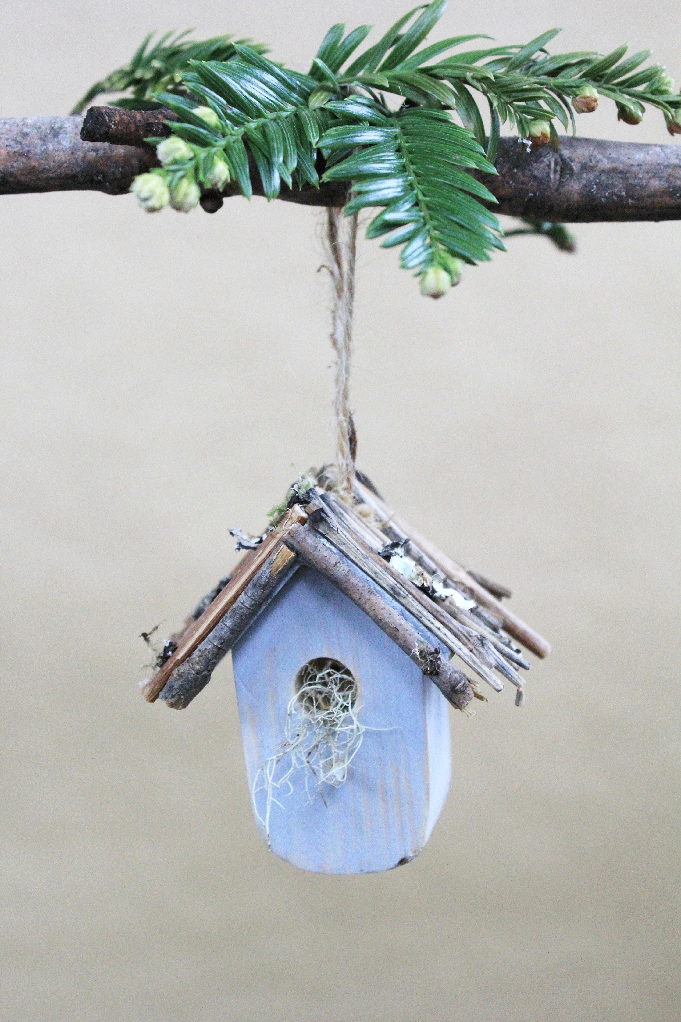 DIY birdhouse ornaments II GingerSnapsBlog