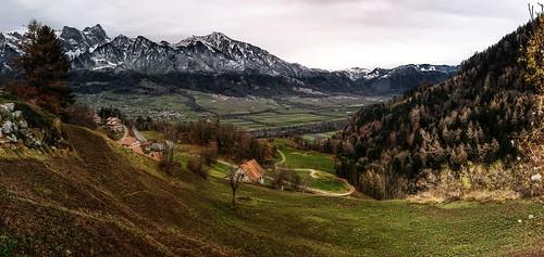 winter snow alps schweiz switzerland suisse bad ostschweiz berge valley alpen svizzera rheintal ragaz rhinevalley graubünden pfäfers mountzains