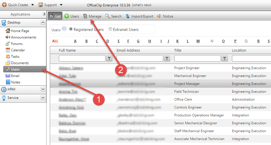 How to add users in OfficeClip