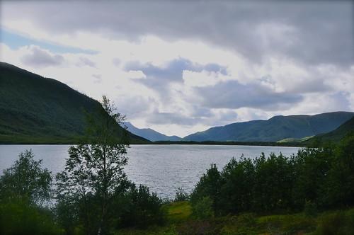 norway lac nuages crépuscule norvège