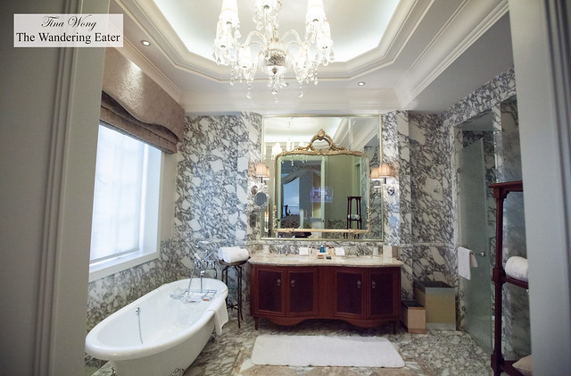 The amazing all marble bathroom