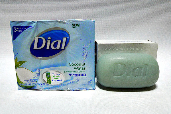 dial coconut water glycerin soap