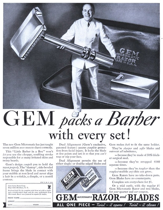 Gem Safety Razor - published in Collier's - July 20, 1935
