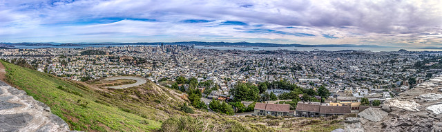 View of San Francisco from Twin Peaks, California, United States