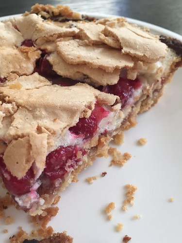 cranberry crackle tart