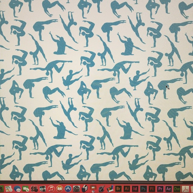 A few weeks ago we went to Cirque du Soleil and today this #pattern happened #illustration #cirquedusoleil #acrobat