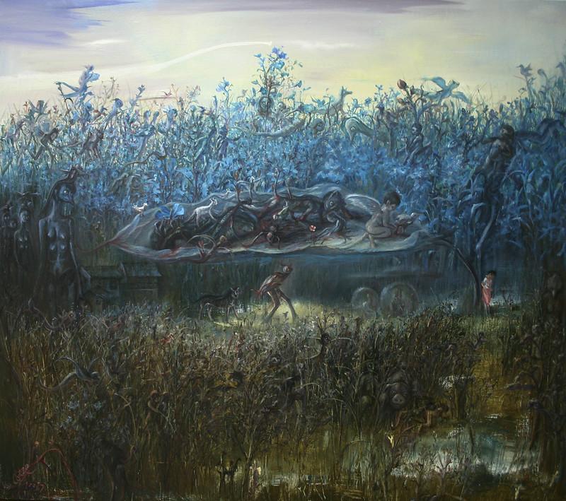 Zhoukui Maomao - Blue Flowers