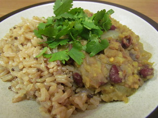 Fragrant Kidney Bean Lentil Dal; Indian-Inspired Rice