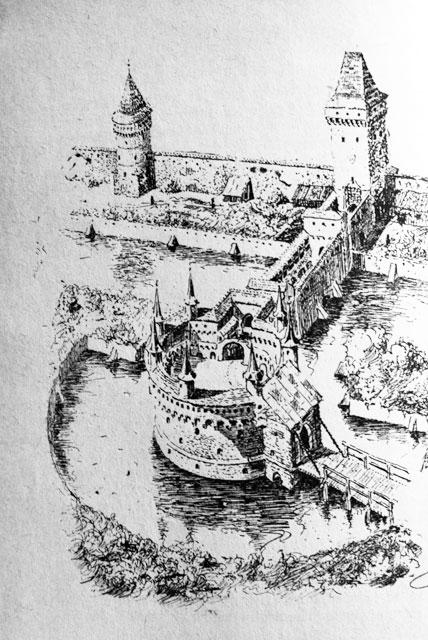 Barbacane de Cracovie vue du dessus