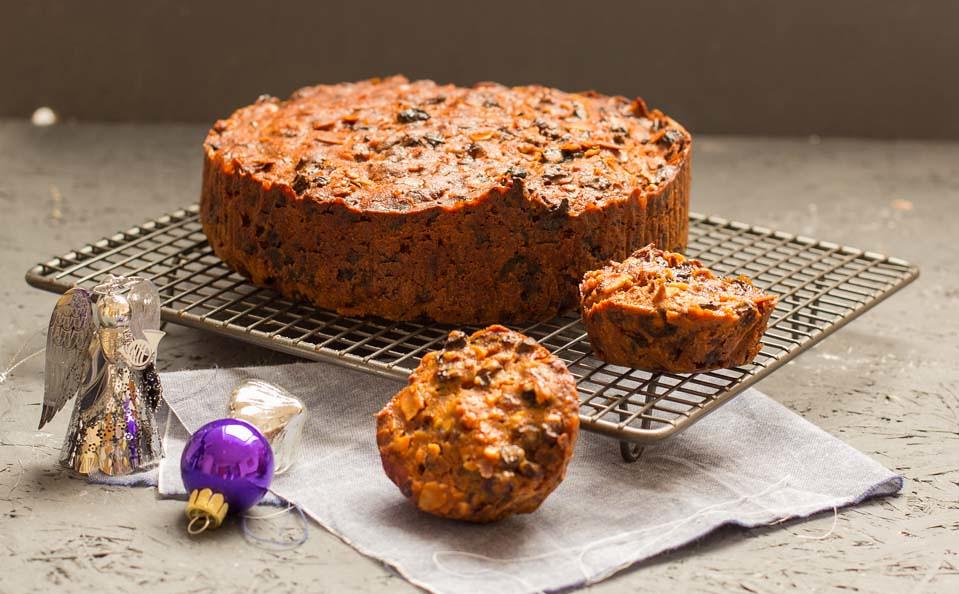 Weihnachten Früchtekuchen Kuchen Torte Trockenfrüchte