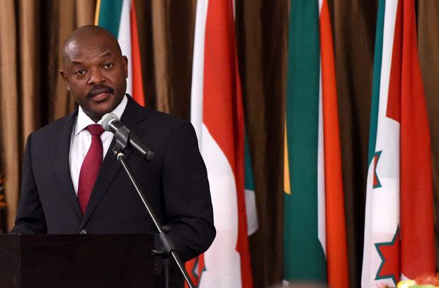 President of Burundi Pierre Nkurunziza