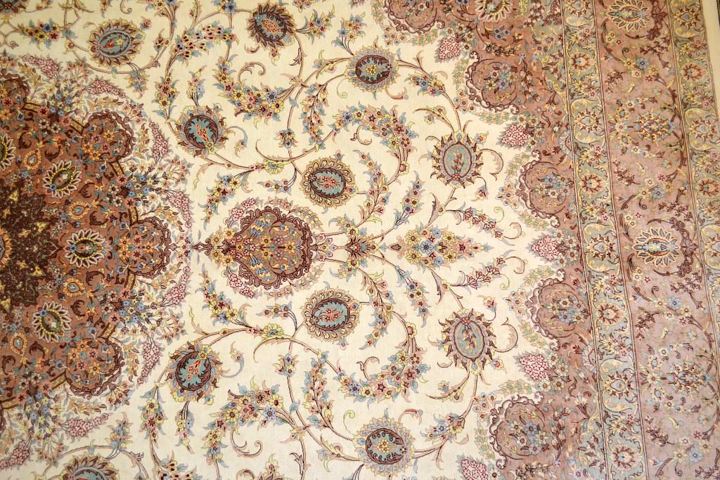 Qum Pure Silk 7x10 Persian Rug (10)
