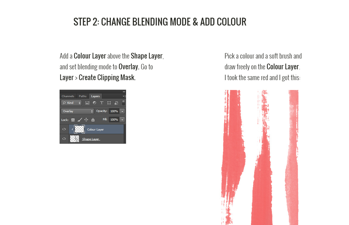 Adding colour in Photoshop - Step 2