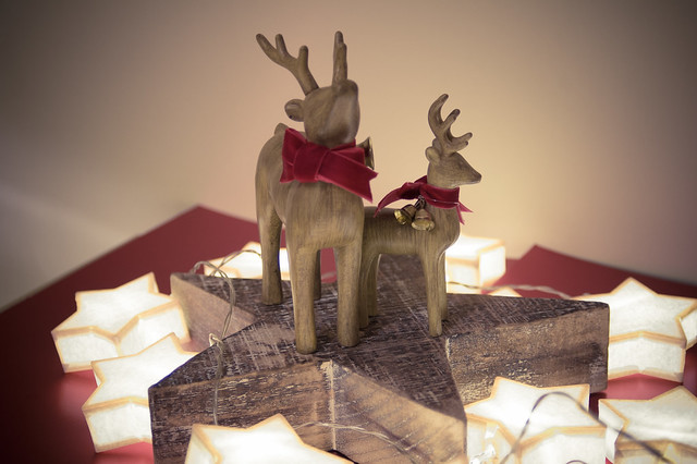 Wooden Christmas Reindeer Yard Decorations