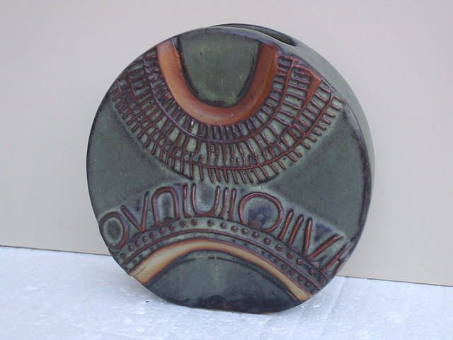 1970's Louis Hudson Studio Art Pottery Vase Cornwall England Mid Century Modern Thrift / Charity Shop Find