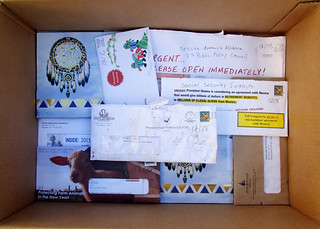 Box o junk mail | by Judith E. Bell