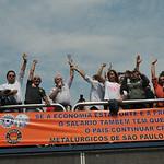 Ato na Região Leste- Campanha Salarial 2010