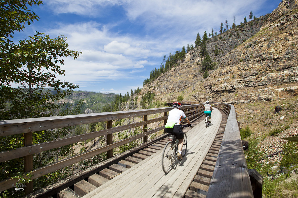 Cycling on trestle no. 11