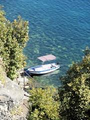 Boat in lake Ohrid