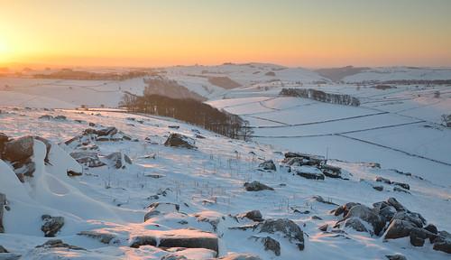 winter snow derbyshire nationaltrust whitepeak wolfscotehill walkinginderbyshire
