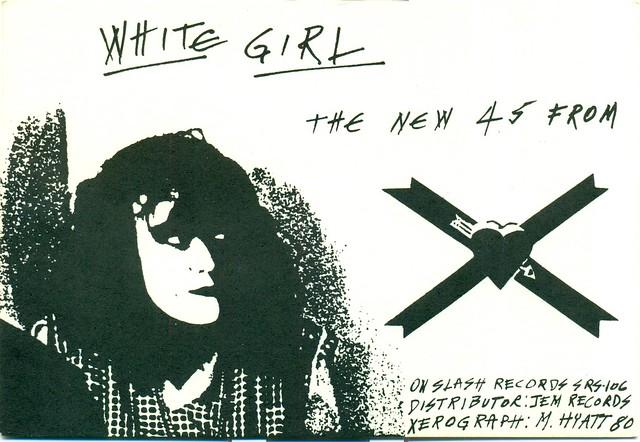 X White Girl Single Release card