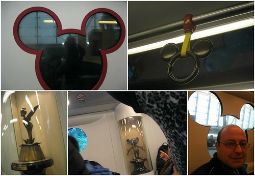 Mickey MRT train in HK