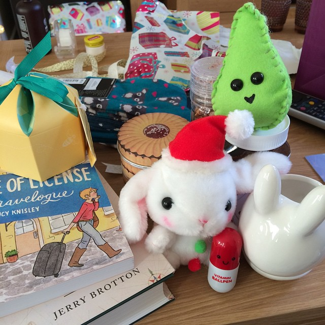Presents! Lots of bunnies and books :)